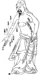 "Acupuncture chart of the xin bao luo ""meridian"""