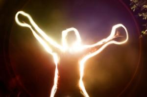 Man Experiencing Energy Medicine