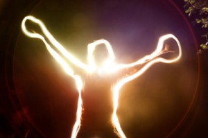 Man Experiencing Energy Medicine - Acupuncture